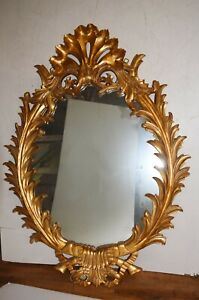 Oval Gilt Mirror - French Rococo Gilded Frame Glass Mirrors