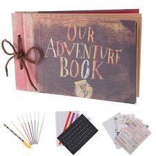 Our Adventure Book Pixar Up Handmade DIY Family Scrapbook Photo Album Expanda...