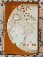 🔺SCARCE 1932 SIGNED - MANLY P. HALL - MAN The Grand Symbol of the Mysteries HC