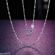 "New Perfect Pure Platinum 950 Necklace Charming Ingot Link Lucky chain 15.7""L 3g"