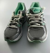 VGC! ASICS Gel-Contend 3 Womens Size 6 Wide (D) Running Shoes Gray Teal White