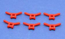 LEGO 6 x Lenker Minifig Werkzeug Zubehör rot | red handlebars tool 30031