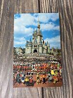 Walt Disney World Cinderella Castle Postcard Old Vintage Card View Standard Post