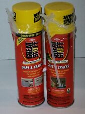 Lot Of 2 Great Stuff Gaps Amp Cracks Insulating Foam Sealant With Quick Stop Straw
