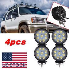 "4X 4"" Round Pod Flood LED Driving Fog Light Off Road Work Light For Jeep Wrangle"