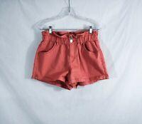 Wild Fable High Waist Size M paper bag Cotton Stretch shorts Elastic Waist