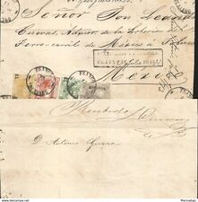 J) 1872 MEXICO, FRONT OF LETTER, DURANGO CERTIFICATION, 100 CENTS GRAY, 6 CENTS