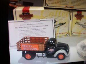 MATCHBOX HARLEY-DAVIDSON 1937 INTERNATIONAL DR60 TRUCK, 1:43 DIECAST, MIB & COA