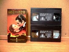GONE WITH THE WIND (VHS 1998) Clark Gable, Vivien Leigh, Leslie Howard, 2 TAPES