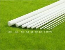 5 pcs Abs Styrene Plastic Round Bar Rods Diameter 6mm *240mm White