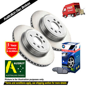 FOR NISSAN Navara D40 295mm[Spain Built] 12/05-On FRONT Disc Rotors (2) & Pads