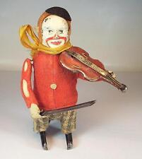 Schuco Tanzfigur Clown mit Geige Uhrwerk Vorkrieg Made in Germany Nr. 4 #1134