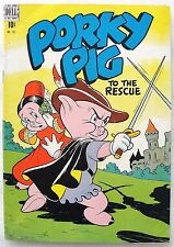 PORKY PIG To The Rescue ~ Four Color #191 FN Golden Age Looney Tunes Comic 1948