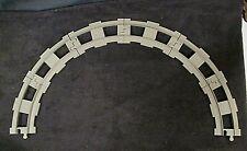 Lego Duplo Curved Dark Gray Train Track Thomas & Friends Intelli-Train Lot Of 6