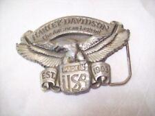RARE Vintage Harley Davidson The American Legend Belt Buckle 1991 Baron USA
