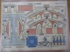IMAGE EPINAL PELLERIN  1920 N° 868 CONSTRUCTIONS LE PONT CHINOIS 40X30  CHINE