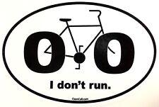 """I Don't Run"" 0.0 Anti Marathon 26.2 Bike Sticker Decal"