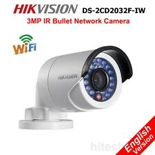 Hikvision DS-2CD2032F-IW 3MP IP Security Camera WiFi PoE IR Onvif DWDR SDCard4mm