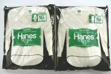Lot of 2 Vintage Hanes Thermal Top Extended Tail Men's Xl Nos Deadstock White 80