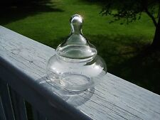 FANCY VINTAGE APOTHECARY JAR CLEAR GLASS