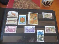 carnet avec 9 timbres neufs d ANDORRE