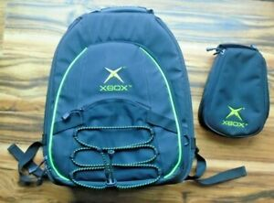Microsoft XBOX Case Carry Shoulder Backpack Protect Bag Console Controller Black