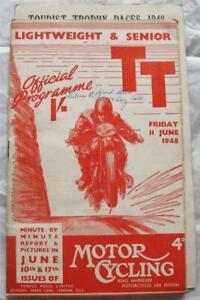 ISLE OF MAN TT 11 Jun 1948 Lightweight & Senior Official Programme + Scorecard