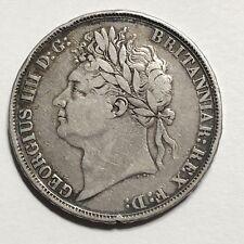 Monnaie En Argent Crown 1822 Royaume Uni (A739)