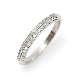 0.4 ctw Natural Diamond (G-H, SI1-SI2) 14k White Gold Knife Edge Wedding Ring