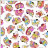 Loralie Harris Happy Camper Tipsy Trailers Toss White Cotton Fabric By The Yard