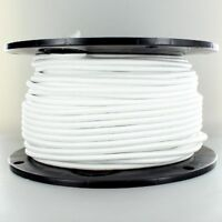 WHITE ~ 3 Wire ~ Vintage ROUND Pendant Fabric Lamp Cord ~ by PLD