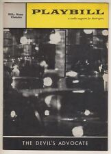 """The Devil's Advocate""   Playbill  1961   Broadway  Leo Genn,  Sam Levene"