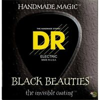 DR BKB-40 Black Beauties Lite Gauge 4-String Bass Guitar Strings (40-100)
