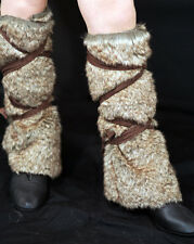 Medieval-larp-dark age-viking-celt-brown Finta Pelliccia Leggings Taglia 1