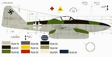 MESSERSCHMITT Me262 Luftwaffe Jet Fighter Famous Airplanes Of World FAOW 115 Bk