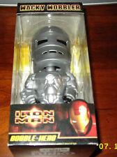 "Funko Wacky Wobbler SILVER - IRON MAN 3 movie (6"") - New Bobble Head SEALED!"