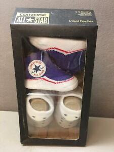 Converse All Star 2 Pair Infant Crib Booties ~Blue & White ~Sz 0-6 Months ~ NIB