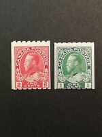 Canadian Stamps -- Canada 1913 King George Perf 8 123-124 (SCOTT 300 USD)