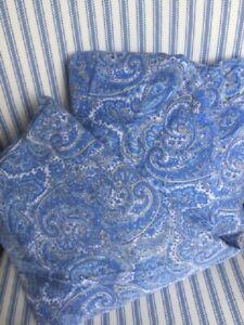 RARE Vintage RALPH LAUREN Paisley Blue Queen Fitted Sheet