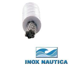 CAVO FUNE IN ACCIAIO INOX AISI 316 RIVESTITO IN PVC BIANCO LUCIDATO E PERFORMATO
