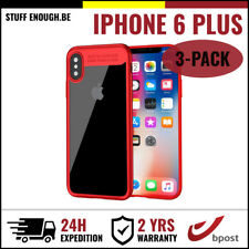 3IN1 Focus Armor Cover Cas Coque Etui Silicone Hoesje Case For iPhone 6 Plus Red