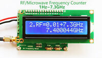 New 1Hz~7.3GHz Microwave Frequency Counter Radio RF Frequency Meter Counter