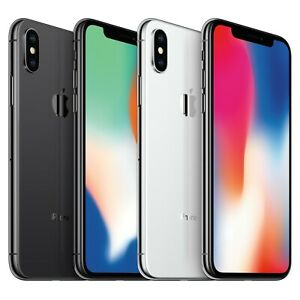 New Apple iPhone X 64GB (GSM Unlocked) AT&T T-Mobile Metro PCS Worldwide 4G LTE
