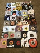 Lot Of 40 Vynil 45's Records Stevie Nicks Pink Floyd Pat Bender Kim Carnes Plus