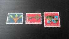 Liechtenstein 1968 SG 489-490-491 campagne & EUROPA & argent mariage neuf sans charnière