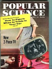 Popular Science Magazine August 1958 2-Piece TV Car Trade-In 062017nonjhe