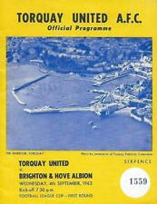 Football Programme>TORQUAY UNITED v BRIGHTON & HOVE ALBION Sept 1963 FLC