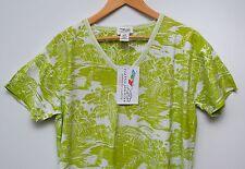 New Sleepshirt S/M 100% Cotton Palm Trees Golf Hawaiian Tropical Green Print