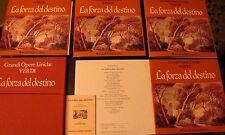 VERDI La forza del destino- box 10 LP + libretto- Fabbri - con custodia rigida