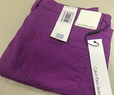 Ck Calvin Klein Jeans Ladies Purple Denim Trousers Low Rise SKINNY W29 L 34